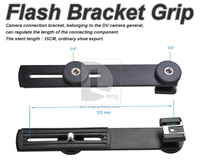 Flash Hot Shoe Digital DC Camera ARMS Bracket Grip PD014  free shipping Wholesale