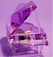 Free shipping!!DIY crystal goods, crystal wedding gift  crystal piano  music box  5colors fast shipping gift box packing