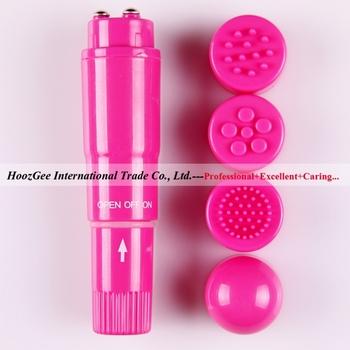 Wholesale 10Pcs/Lot Waterproof MINI Massager,  4 Head Replaceable Pocket Rocket Vibrator Toys, Sex Toys, Adult Toys XQ-804