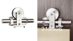 elegant stainless steel barn door hardware with free shipping(China (Mainland))