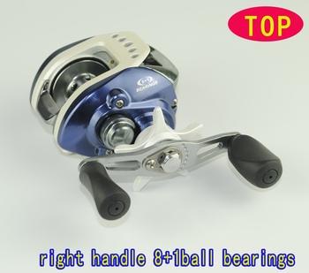 Top quality bait casting reels 9Ball bearings  fishing reels Right handle    LV100