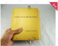Wholesale CDMA and PCS mobile phone signal Repeater CDMA repeater 850mhz 1900Mhz 3G dual band booster for Cell phones