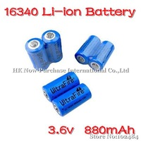 X10 Ultrafire Blue 16340 Battery 3.6V 880mAh Rechargeable Lithium Battery Rechargeable Li-ion Battery For Flashlight