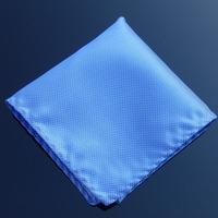 Free Shipping Marriage Hankerchiefs Men's Blue Plaid hanky /party hankies/pocket squares F02