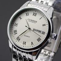 CURREN Men fashion Brand Watches Stainless Steel boys Wristwatch Analog Quartz Dress Man Fashions Clock Men Watch With Date Week