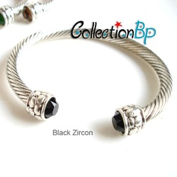 Wholesale 26pcs/lot Stainless Steel Zircon Elastic Sliver Bracelet Retail for $36/pcs(China (Mainland))