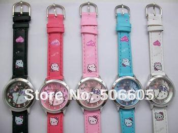 free shipping HOT selling 30pcs/lot 5 Colors Hello kitty watch,slap watch elegant women's watches,kids watches