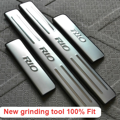 2010 2011 2012 2013 2014 KIA RIO k2 sedan hatchback stainless steel scuff plate door sill 4pcs/set car accessories for KIA RIO(China (Mainland))