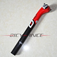 FREE SHIPPING!Italy most Dogma 60.1 carbon fiber white seatpost bicycle top grade bar stem parts 015 31.6mm*350mm