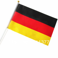 Wholesale Free shipping small National flags Germany 14*21 cm, polyester material good quality