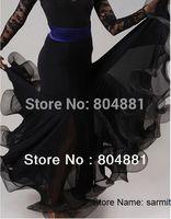3052402 - 2013 New Fashion Women Ballroom Dance Dress Black Blue Red Purple Free Shipping Flamenco Skirts