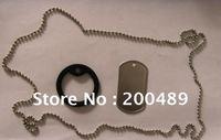 100 pcs Dogtag Chain 60CM +100pcs Dogtag + 100pcs silencer Bundle