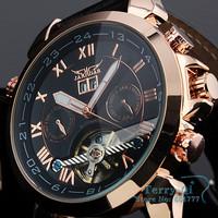 JARAGAR Fashion Brand Wristwatches Man Auto Mechanical Date Tourbillon Mens Wrist Watch +Gift Gox Free Ship