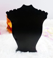 Plastic Jewelry Necklace Pendant Retail Sale show display stand holder Rack BLK black ssls035