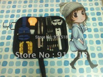 New 13pc Watch Repair Tool Kit Zip Case Battery Opener Link Remover Screwdrivers