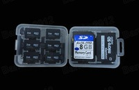 High-Quality New 8 in 1 SD MS Micro SD TF Memory Card Storage Holder Carrying Box Case