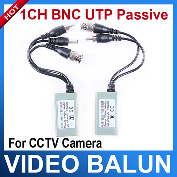 "1 Pair Gray 6"" Cable Length CCTV Camera BNC Video Balun UTP PVD Transceiver"