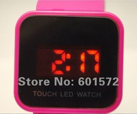 Freeshipping 50pcs/lot promotional watch, new arrival hot sale silicon band, led digital movement,12colors available f