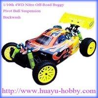 1/10th 4WD Nitro Off-Road Buggy-Pivot Ball Suspension _18CXP_Backwash HSP Nitro 94166 RTR: