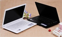 Drop shipping 14 inch laptop Notebook Intel D2500 1.86Ghz Dual Core White/Black Colors Windows 7 OS