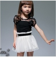 Free shipping 2012 new arrival kids dress for summer, Lace children dresses,Girl dress wholesale 5pcs/lot,G-0023