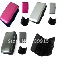 10PCS/LOT Business ID Credit Card Wallet Holder Hard Metal Case Waterproof Box Free Shipping Wholesale