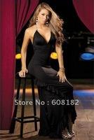 Hot fashion Evening dress  sexy Women dress black  free shipping wd004