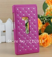 FREE SHIPPING,Wholesale 12 PCS Deluxe Reinestone Bling Hard Case Cover For NOKIA N9 CASE