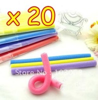 New Cute And Beauty Magic Hair Curler Roller Flexi Rod Wholesale Lots OF 20 + Free Shipping