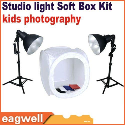 Light soft box lighting kit new pro kids photography equipment