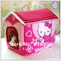 X3 NEW arrival, Hello Kitty pet kennel, dog house, good quality, suitable for small pet