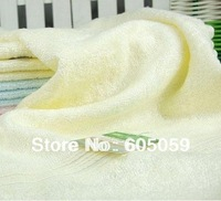 yellow color only quality 100% Bamboo fiber 25*50cm  face towel bamboo towel children towel UT027
