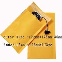 "Kraft Bubble Mailers Padded Envelopes Bags 4""X8"" 100 Pcs"