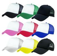 Wholeslae Special Mix Colors Men Plain Trucker Mesh Hat Women Blank Snapbacks Hats Mens Spring Sport Caps Womens Summer Headgear