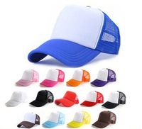 Special Mix Many Colors Fashion Trucker Hats Women Men Blank Snapbacks Driver Hat  DIY Sport Caps Spring Summer Wholesale 2014