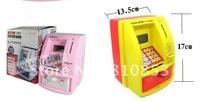 Free Shipping ATM saving money box bank, kids gift,novelty toyspiggy bank, coin Machine.(mixed random)Lc-01-186