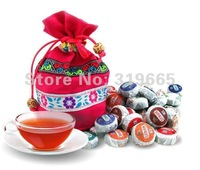HOT SALE!!! 50pcs 10 Kinds Flavor Pu er, Pu'erh tea, Mini Yunnan Puer tea ,Chinese tea, Christmas Gift Bag, Free Shipping