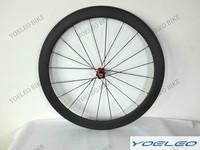20/24 holes 700C Bike Wheels Carbon Fiber Tubular 50MM 3k/12k/ud with Novatec Hubs and cn aero spokes
