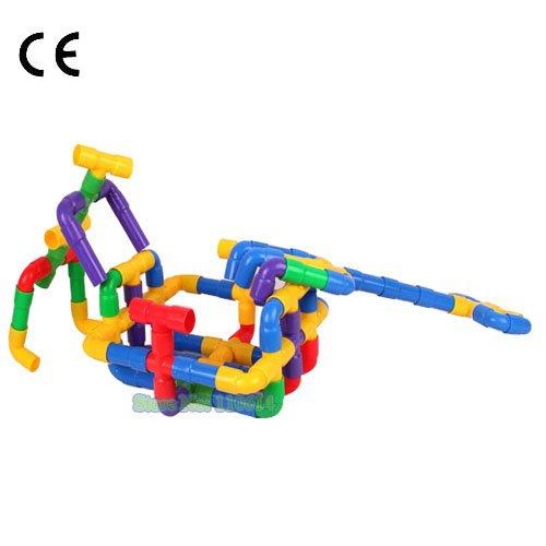 Grátis frete Jingqi marca 1002 crianças de plástico tubos iluminai construção brinquedos(China (Mainland))