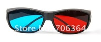 Sakura&#39;s Store Free+20pcs/lot  3D VISION game 3D glasses RED/Blue lens plastic Framed 3 Dimensional glasses