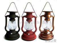 100% Solar powered camping lantern lamp 7LED super bright+Solar powered+adjustable brightness 4 colors for choose