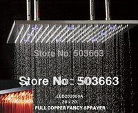 "20"" Stainless Steel Bathroom Rainfall Shower head Shower Faucet L551"