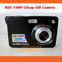 MAX 18MP Cheap Digital Camer a with 2.7 inch LCD Sreen 8X Digital Zoom Anti-shake Gift Cameras no Retail Packaging Cheap Camera