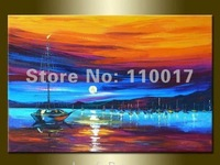Free shipping Pop saled simple seascape painting for home decoration