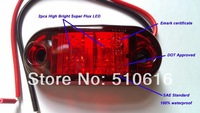 Freeshipping 10 Pcs 24V led side clearance marker light for truck/trailer SAE standard CE Approved