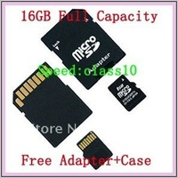 Free shipping 16GB Micro SD Card Class10 ,Full capacity ,Memory Card,Micro SD 16GB,Free adapter+case,MSD-16