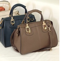 brown,orange color hot sell Women's Vintage Celebrity Totes,Fashion PU Leather Handbag,free shipping,good quality
