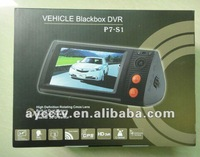 New vehicle driving video recorder,HD Dual lens Camera Car DVR with GPS and 3D G-Sensor free shipping