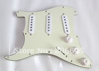 S-S-S Left Hand Guitar Prewired Loaded Pickguard Fits Used For Stratocaster Electric Guitar - Mint Green Color