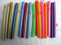 free fee 16 color 10*0.7cm glitter hot melt adhesive glue gun sticks / hot melt glue gun, hair extension tools